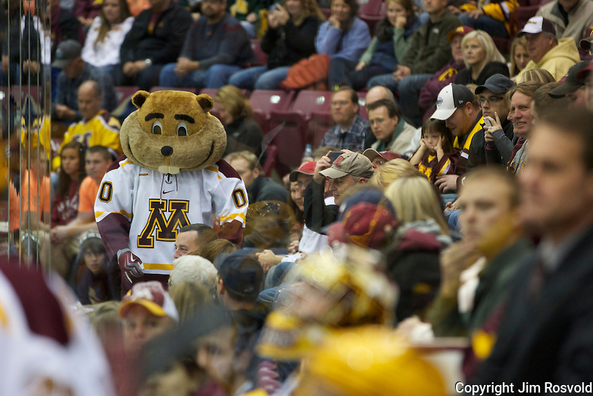 21 Oct 11: Goldy Gopher. The University of Minnesota Golden Gophers host the University of Vermont Catamounts in a non-conference matchup at Mariucci Arena in Minneapolis, MN.
