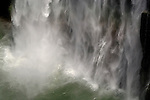 Water cascades down from Victoria Falls.