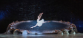 London, UK. 13 July 2016. Amber Scott as Odette. The Australian Ballet perform Swan Lake - one prince torn between two loves - during a dress rehearsal at the London Coliseum. Performances run from 14 to 16 July 2016. With Amber Scott as Odette, Adam Bull as Prince Siegfried and Dimity Azoury as Baroness von Rothbart. Choreography by Graeme Murphy, Artistic Direction by David McAllister to music by .