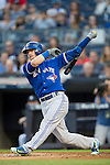 Josh Donaldson (Blue Jays),<br /> AUGUST 7, 2015 - MLB :<br /> Josh Donaldson of the Toronto Blue Jays bats during the Major League Baseball game against the New York Yankees at Yankee Stadium in the Bronx, New York, United States. (Photo by Thomas Anderson/AFLO) (JAPANESE NEWSPAPER OUT)