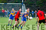 Paul O'Connor Kenmare Shamrocks in Action against Danny Cahalane Kenmare DIstrict in the Kerry Senior Football Championship in Templenoe on Friday Night