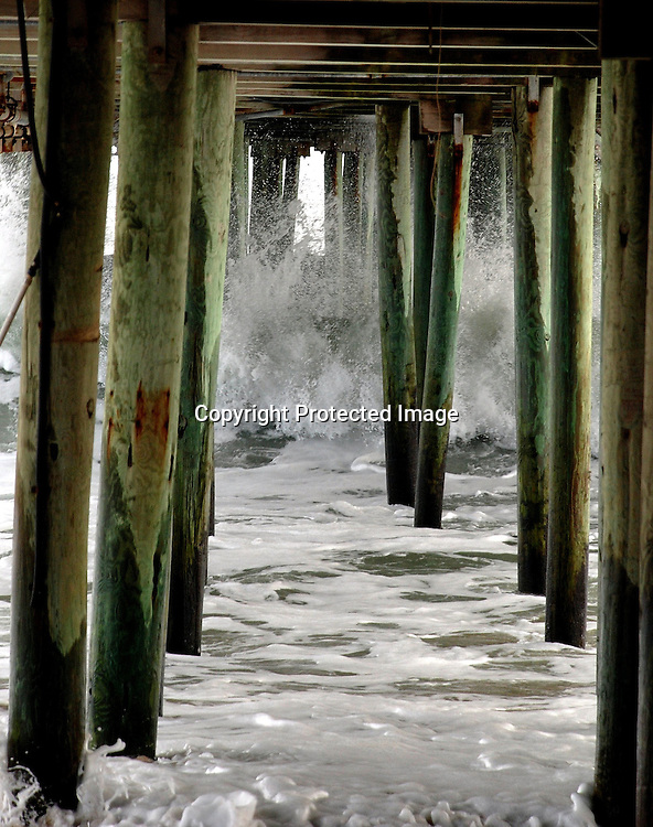 under the Pier at Old Orchard Beach