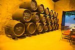 Sherry barrels signatures famous people, Gonzalez Byass bodega, Jerez de la Frontera, Cadiz province, Spain