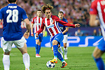 Antoine Griezmann of Atletico de Madrid  during the match of  Champions LEague between  Atletico de Madrid and LEicester City Football Club at Vicente Calderon  Stadium  in Madrid, Spain. April 12, 2017. (ALTERPHOTOS / Rodrigo Jimenez)