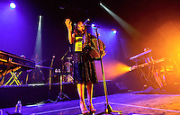 CIUDAD DE MÉXICO, septiembre 06, 2013 (Xinhua). La cantante mexicana Julieta Venegas, participa durante su concierto en el Plaza Condesa de la  Ciudad de México, el 05 de septiembre de 2013. Julieta Venegas, se presentó su más reciente producción, Los Momentos, ante un lleno total en el foro. FOTO: ALEJANDRO MELÉNDEZ<br /> <br /> MEXICO CITY, September 6, 2013 (Xinhua). Mexican singer Julieta Venegas, participates during their concert at the Plaza Condesa in Mexico City, on September 5, 2013. Julieta Venegas, presented his latest, The Moments, before a full house in the forum. PHOTO: ALEJANDRO MELENDEZ