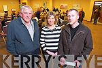 John Mulvihill, Michelle Woods and Andrew Woods, Tarbert Post office at the public meeting of a national campaign to get local services maintained in rural  post offices held at the Carlton Hotel on Tuesday