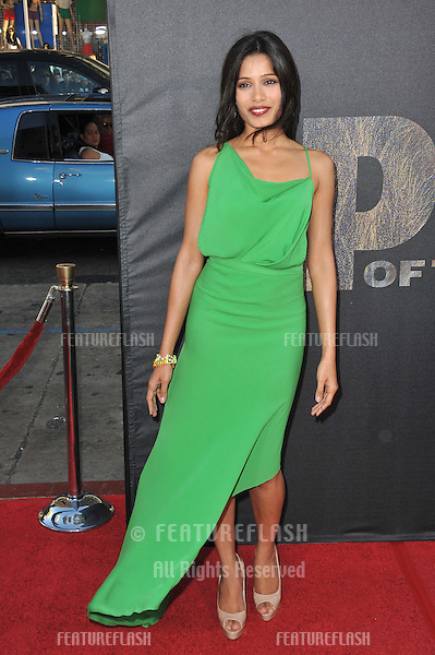 "Freida Pinto at the Los Angeles premiere of her new movie ""Rise of the Planet of the Apes"" at Grauman's Chinese Theatre, Hollywood..July 28, 2011  Los Angeles, CA.Picture: Paul Smith / Featureflash"