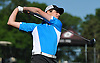 Trevor King of St. Anthony's tees off on the 1st Hole of Bethpage State Park's Black Course during the New York State Federation Golf Tournament on Sunday, June 7, 2015.<br /> <br /> James Escher