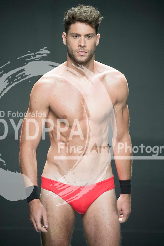 Model Jose Lamuno poses