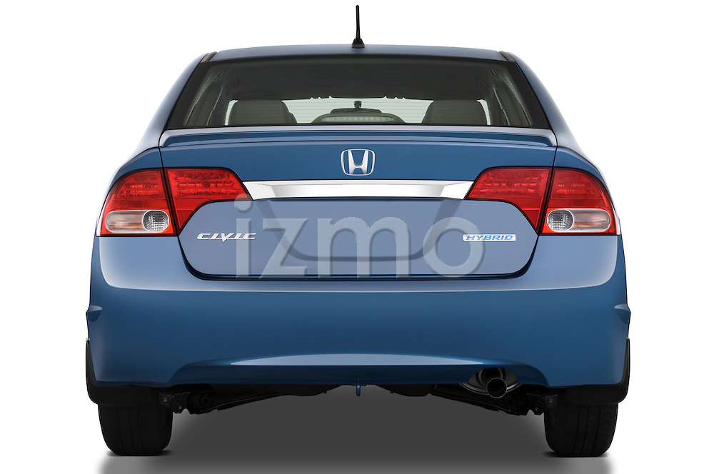 Straight rear view of a 2009 Honda Civic Hybrid