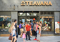The opening of a Teavana store in  New York is seen on Saturday, September 19, 2015. The coffee giant Starbucks owns Atlanta-based chain of tea stores.  (© Richard B. Levine)