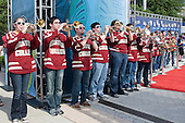 - The Boston College Eagles were greeted by fans along the red carpet entrance to the arena prior to the final. The Boston College Eagles defeated the Ferris State University Bulldogs 4-1 (EN) in the 2012 Frozen Four final to win the national championship on Saturday, April 7, 2012, at the Tampa Bay Times Forum in Tampa, Florida.