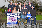 BOOKING: Launching their night at the Kingdom Greyhound Stadium at the Cateral, Ardfert, members of Ardfert Community, Front l-r: Justin Horgan, Angela Ryan, Eoghan McElligott, Jonathan Best, Lorcan Ryan and David McElligott. Back l-r: Pat Mcgarthy, Jeremiah Clifford, Mary Dooley, Brendan Griffin and Maurice Griffin.......
