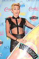 LOS ANGELES - AUG 11: Miley Cyrus in the press room at the 2013 Teen Choice Awards at Gibson Amphitheatre on August 11, 2013 in Los Angeles, California