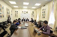 NEW YORK; EUA; 19.04.2017 - CAPUTO-NEW YORK - O Ministro de Finanças da Argentina Luis Caputo atende jornalistas no Conselho das Americas em New York nesta quarta-feira; 19. (Foto: William Volcov/Brazil Photo Press)