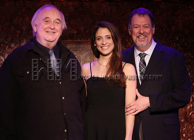 """Eric Michael Gillett and Elena Shaddow perform A Special Press Preview of their upcoming show """"54 Below Swings Time and Again""""  at 54 Below on April 4, 2014 in New York City."""