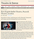 New English Ballet Theatre, Tangents, Peacock, Financial Times 04.07.14.