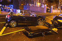 Car Smash Stratford Rd B'ham (Nov 2015))