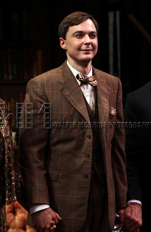 """Jim Parsons.pictured at the Opening Night Curtain Call for the Roundabout Theatre Company's Broadway Production of  """"Harvey"""" at Studio 54 New York City June 14, 2012"""