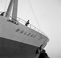 Oktober 1966. Schip Balzac.