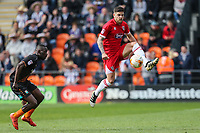 Danny Andrew of Grimsby Town on the ball during the Sky Bet League 2 match between Barnet and Grimsby Town at The Hive, London, England on 29 April 2017. Photo by David Horn.