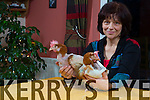 Tjitske Breen,  with 2 of the  35 Adopted Rescued Battery Hens