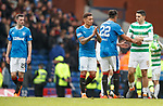 11.3.2018 Rangers v Celtic:<br /> Jamie Murphy, James Tavernier and Bruno Alves at full-time