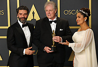 09 February 2020 - Hollywood, California -   Donald Sylvester, Oscar Isaac, Salma Hayek attend the 92nd Annual Academy Awards presented by the Academy of Motion Picture Arts and Sciences held at Hollywood & Highland Center. Photo Credit: Theresa Shirriff/AdMedia