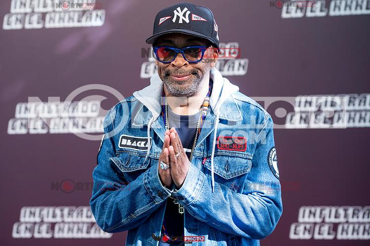 American director Spike Lee attends to presentation of his last film 'Infiltrado en el KKKlan' (BlacKkKlansman) in Madrid, Spain. October 23, 2018. (ALTERPHOTOS/Borja B.Hojas)
