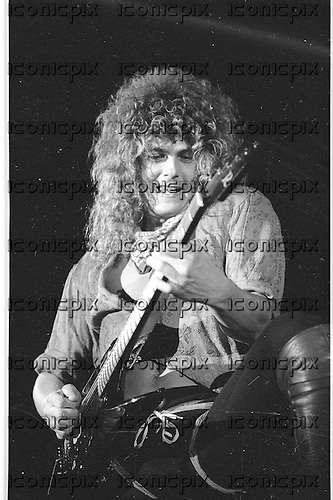 Brighton Rock - guitarist Greg Fraser - performing live  in concert  Los Angeles USA - May 1987.  Photo Credit : David Plastik/ IconicPix
