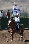 Nick Uhart rides in the opening ceremonies of the Minden Ranch Rodeo on Sunday, July 22, 2012..Photo by Cathleen Allison