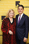 Liv Ullman and David Miliband attend The 2017 Rescue Dinner hosted by IRC at New York Hilton Midtown on November 2, 2017 in New York City.