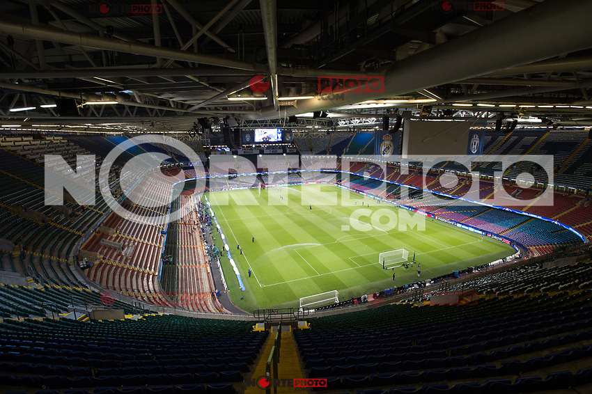 A view of National Stadium of Wales during the training session ahead the UEFA Champions League Final between Real Madrid and Juventus at the National Stadium of Wales, Cardiff, Wales on 2 June 2017. Photo by Giuseppe Maffia.<br /> Giuseppe Maffia/UK Sports Pics Ltd/Alterphotos /NortePhoto.com