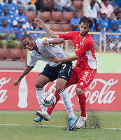 Stefan Jerome battles to maintain possession.  US Under-17 Men's National Team defeated United Arab Emirates 1-0 at Gateway International  Stadium in Ijebu-Ode, Nigeria on November 1, 2009.