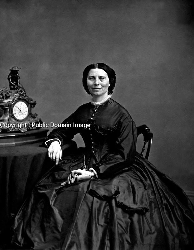 Miss Clara Barton.  Mathew Brady Collection.  (Army)<br /> Exact Date Shot Unknown<br /> NARA FILE #:  111-B-1857<br /> WAR & CONFLICT BOOK #:  215