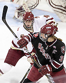 Melissa Bizzari (BC - 4), Liza Ryabkina (Harvard - 3) - The Boston College Eagles defeated the Harvard University Crimson 3-1 to win the 2011 Beanpot championship on Tuesday, February 15, 2011, at Conte Forum in Chestnut Hill, Massachusetts.