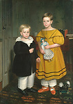 Peckham, Robert 1785&ndash;1877.<br /> <br /> The Raymond Children, Painting, ca. 1835&ndash;1838.<br /> <br /> Oil on canvas, 140.3 &times; 99 cm.<br /> Inv. Nr. 66.242.27<br /> New York, Metropolitan Museum of Art.