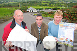 PROJECT: Members of Dreeynane GAA Club in South Kerry who will turn the sod on a new EUR750,000 Sports Hall on Sunday next..L/r. Kevin O'Sullivan (vice chairman), Paul O'Sullivan (chairman)  and John O'Shea (treasurer).   Copyright Kerry's Eye 2008