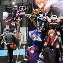 March 22, 2012, Tokyo, Japan - A huge painting and cutouts of popular animation characters draw visitors attention at the Tokyo International Animation Fair 2012 opened at Tokyo Big Sight on Thursday, March 22, 2012. A total of 216 companies and organizations, including 89 from overseas, took part in the annual cultural festival of comics and animations. The organizers expect to draw more than 30,000 visitors during the four-day exhibition. (Photo by Kaku Kurita/AFLO) FYJ -mis-