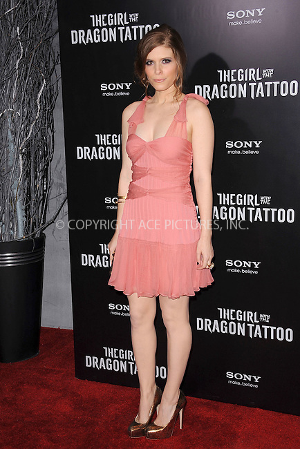 WWW.ACEPIXS.COM . . . . . December 14, 2011...New York City....Kate Mara attends the 'The Girl With the Dragon Tattoo' New York premiere at Ziegfeld Theater on December 14, 2011 in New York City....Please byline: KRISTIN CALLAHAN - ACEPIXS.COM.. . . . . . ..Ace Pictures, Inc: ..tel: (212) 243 8787 or (646) 769 0430..e-mail: info@acepixs.com..web: http://www.acepixs.com .