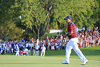 Patrick Reid (Team USA) on the 16th green during Saturday afternoon Fourball at the Ryder Cup, Hazeltine National Golf Club, Chaska, Minnesota, USA.  02/10/2016<br /> Picture: Golffile | Fran Caffrey<br /> <br /> <br /> All photo usage must carry mandatory copyright credit (&copy; Golffile | Fran Caffrey)