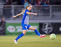 Boyds, MD - April 16, 2016: Boston Breakers defender Whitney Engen (4). The Washington Spirit defeated the Boston Breakers 1-0 during their National Women's Soccer League (NWSL) match at the Maryland SoccerPlex.