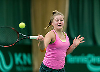 Wateringen, The Netherlands, March 9, 2018,  De Rijenhof , NOJK 12/16 years, Rixt van der Were (NED)<br /> Photo: www.tennisimages.com/Henk Koster