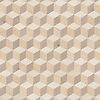 Euclid, a hand-cut stone mosaic, shown in honed Ivory Cream, Lagos Gold, and Sylvia Gold.