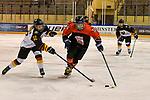 09.01.2020, BLZ Arena, Füssen / Fuessen, GER, IIHF Ice Hockey U18 Women's World Championship DIV I Group A, <br /> Japan (JPN) vs Deutschland (GER), <br /> im Bild Leonie Massner (GER, #12) stoert Marin Nagaoka (JPN, #21)<br /> <br /> Foto © nordphoto / Hafner