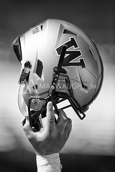 The Washington helmet, held aloft.  This is a digital illustration.