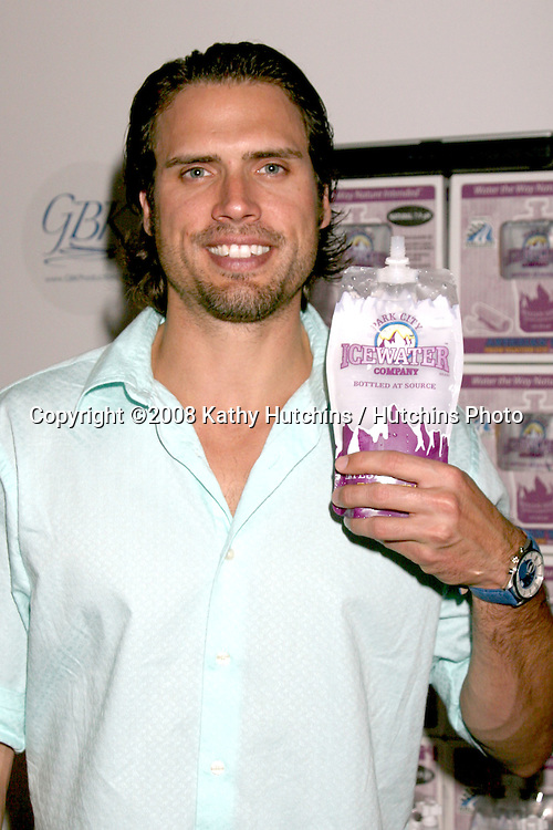 Joshua Morrow.Park City Water.GBK Gifting Suite.Thompson Hotel.Beverly Hills, CA.January 10, 2008.©2008 Kathy Hutchins / Hutchins Photo...            .