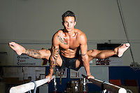 United States gymnast Paul Ruggeri works out at the Colorado Springs Olympic Training Center in Colorado Springs, Colorado, Wednesday, June 15, 2016. At the 2015 US Nationals Ruggeri's notable finishes include placing 8th in the all around, 5th on floor and winning a silver medal on high bar.<br /> <br /> Photo by Matt Nager