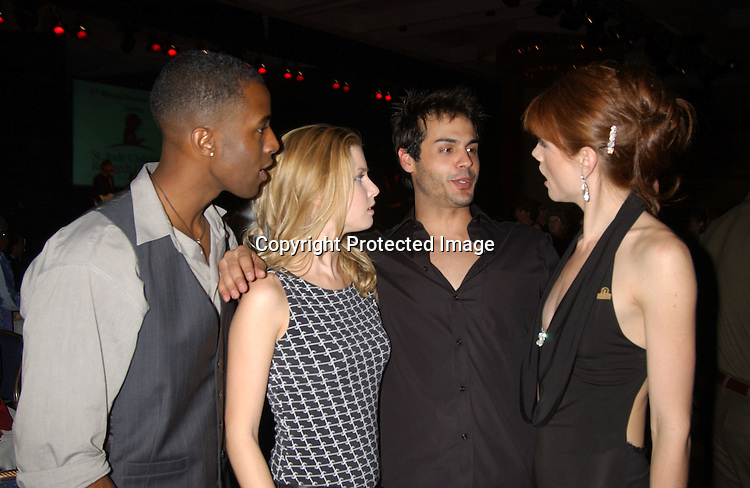 Gavin Houston, Stephanie Gatschet, Stephen Martines and Deborah Zoe                                            ..at the Ninth Annual Daytime Television Salutes St. Judes Children's Research Hospital benefit in New York City on ..October 10, 2003 at the Marriott Marquis Hotel.