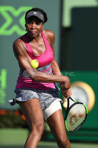KEY BISCAYNE, FL - MARCH 26 : Venus Williams Vs Patricia Maria Tig during the Miami Open at Crandon Park Tennis Center on March 26, 2017 in Key Biscayne, Florida. Credit: mpi04/MediaPunch